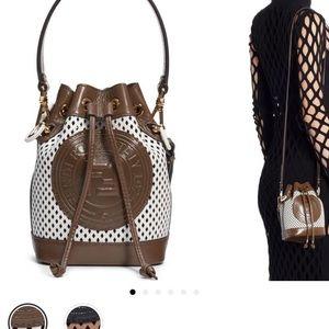 Mini Mon Tresor Perfoarted Leather Bucket Bag